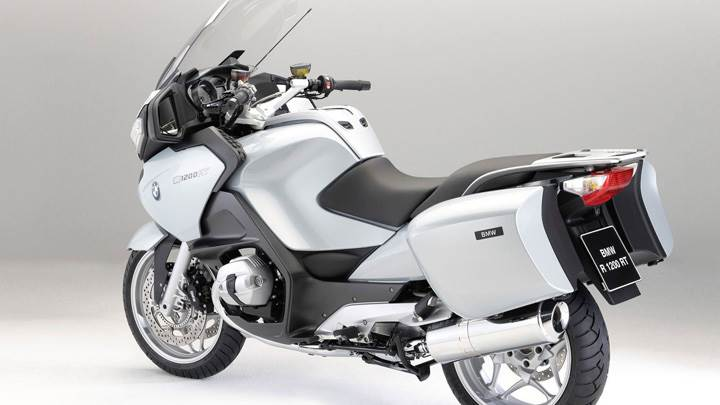 BMW R1200RT In White Side Back Pose